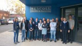 Consortium members visiting RESCOLL facility